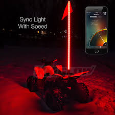 led light whip for atv xkglow xkchrome ios android app bluetooth smartphone control 2x led