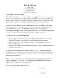 associate merchant cover letter sales manager cover letter sample