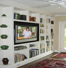 In Wall Bookshelves by Nyc Custom Built In Tv Entertainment Centers New York City Media