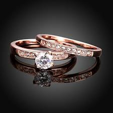 Rose Gold Wedding Ring by Amazon Com Eternity Love Women U0027s Pretty 18k Rose Gold Plated