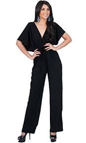 womens formal jumpsuits amazon com koh koh womens kimono sleeve one jumpsuit