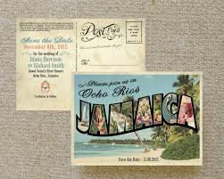 postcard save the date vintage large letter postcard save the date ocho rios jamaica