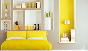 chambre jaune et gris jaune couleur déco peinture inspiration côté maison