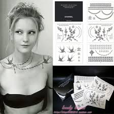 2010 new limit chanel tattoo stickers for 10 00 usd sale