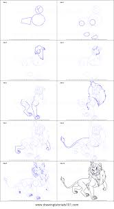 draw scar lion king printable step step drawing