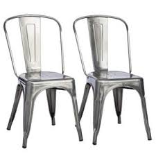 Grey Bistro Chairs Metal Dining Room U0026 Kitchen Chairs For Less Overstock Com