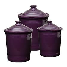 colorful kitchen canisters plum canisters ooo purple kitchen ideas
