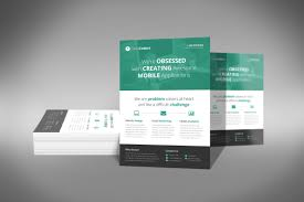 template for flyer free a professional and free flat design corporate flyer psd template