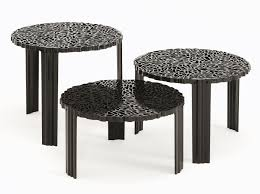 t table basso coffee table h 28 cm opaque black by kartell