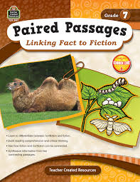 Reading Comprehension 7th Grade Worksheets Paired Passages Linking Fact To Fiction Grade 7 Tcr2917