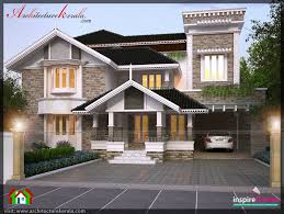four bedroom house plan and elevation architecture kerala