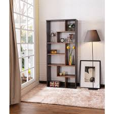 Bookcase In Wall Gold Bookcases Home Office Furniture The Home Depot