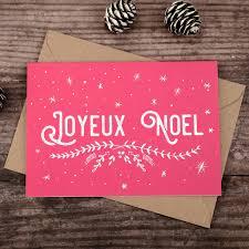 joyeux noel christmas cards joyeux noel christmas card by bread jam notonthehighstreet