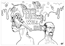zombies twd lucille by allan tv shows coloring pages for