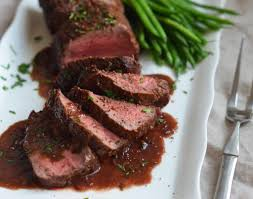 roast beef tenderloin with wine sauce once upon a chef