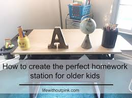 Kids Homework Station by Blog Life Without Pink Part 13