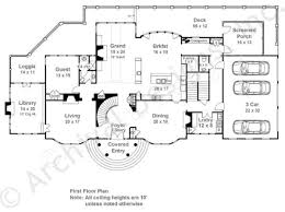 House Plans With Screened Porch Carmichael Estate Neoclassic House Plan Luxury Floor Plan