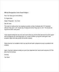 resignation email samples art resume examplesresignation email