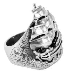 men s rings ship ring sailing ship ring sailor jerry ship ring lord coconut