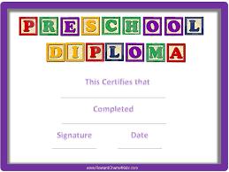 preschool diploma preschool certificates