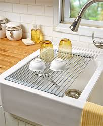 Drain And Dry Dishes Over The Sink With This RollUp Sink Drying - Kitchen sink with drying rack