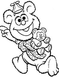 muppet babies happy teddy bear coloring pages muppet
