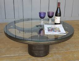cast iron glass table industrial glass and cast iron coffee table