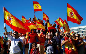 thousands rally in spain hoping to avert national crisis