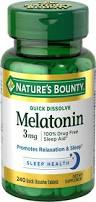 mg amazon com nature u0027s bounty melatonin 3 mg 240 quick dissolve