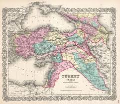 Map Of Iraq And Syria by File 1855 Colton Map Of Turkey Iraq And Syria Geographicus