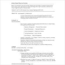 Example Of A Military Resume by Resume Example Templates Free Word Pdf Excel Formats