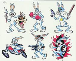 fantastic cartoon tattoo designs ideas bugs bunny