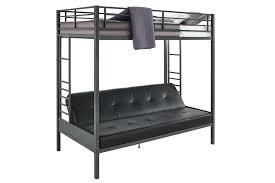 Futon Bed With Mattress Dhp Furniture Jasper Premium Twin Over Futon Bunk Bed With Black