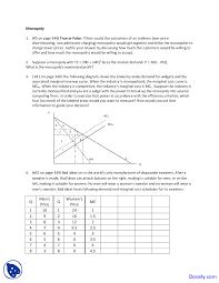 monopoly intermediate microeconomics economics quiz