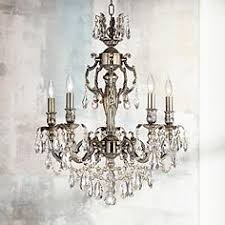 Brass Antique Chandelier Brass Antique Brass Crystal Chandeliers Lamps Plus
