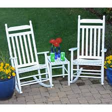 Outdoor Rocking Chair Cushion Sets Dixie Seating Company 3 Pc Rocking Chair Set With Sidetable