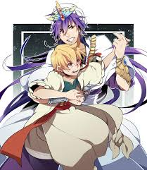 alibaba x sinbad tags anime pixiv magi the labyrinth of magic ali baba saluja