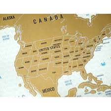 United States Map Poster by Snagshout Scratch Off World Map Travel Tracker
