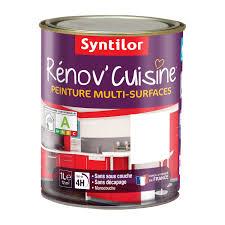 peinture pour porte de cuisine peinture rénov cuisine syntilor blanc 1 l leroy merlin