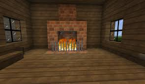 automatic self lit fireplace minecraft project