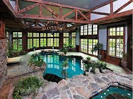 indoor swimming pools rustic indoor swimming pools with stone
