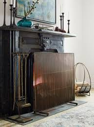 Free Standing Fireplace Screens by Antiqued Brass Fireplace Screen Brass Metal Large Lanterns And