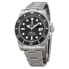rolex black friday sale pre owned rolex men u0027s submariner stainless steel black dial watch