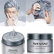 Color For Gray Hair Enhancing Aliexpress Com Buy Color Hair Wax Styling Pomade Silver Grandma