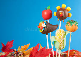 thanksgiving cake pops stock image image of cornucopia 27667083