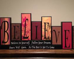 believe plaque etsy