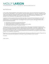 Firefighter Job Description For Resume by Firefighter Cover Letter Example Resume Cover Letter Example