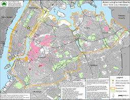 Map Of New York City Area by Asian Longhorned Beetle Infestations