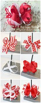 loopy bow to make a big loopy stacked hair bow the ribbon retreat