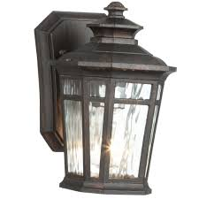 Hampton Bay Exterior Wall Lantern by Bel Air Lighting 2 Light Rubbed Oil Bronze Outdoor Crossover Wall